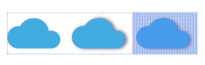 สร้างเงา เวกเตอร์ microstock mesh from blur