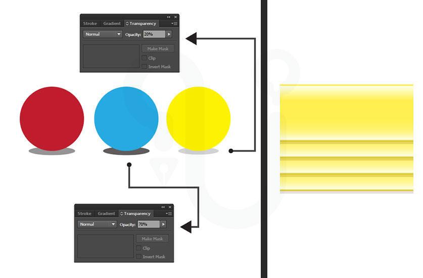 สร้างเงา เวกเตอร์ microstock