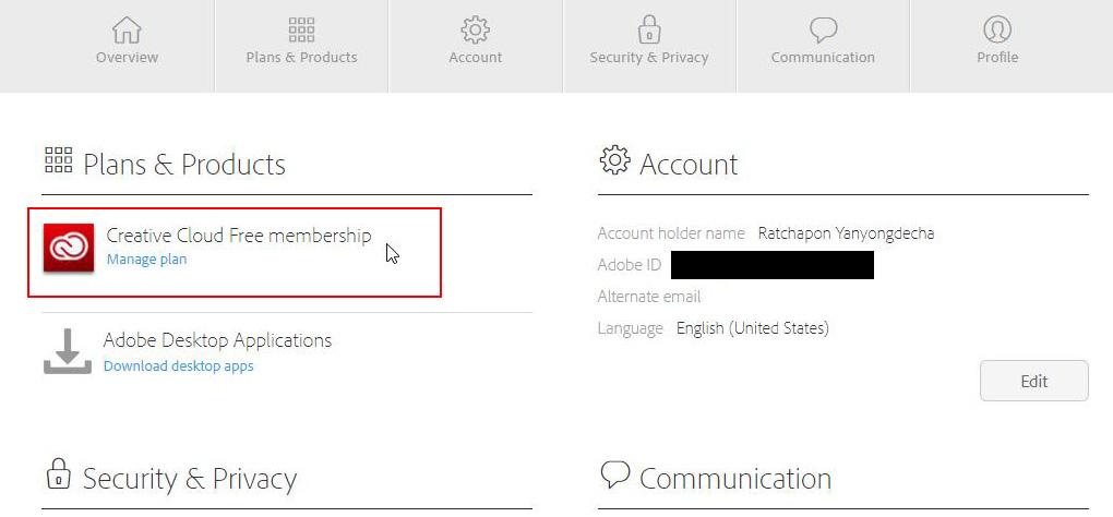 วิธีสมัครและเช่า Adobe Cloud ผ่านเว็บ แบบตัดบัตรเดบิต