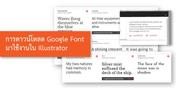 การดาวน์โหลด Google Font มาใช้งานใน Illustrator